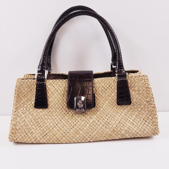 11cab59f0e Lauren Ralph Lauren Handbags - Lauren Ralph Lauren Straw Purse Summer  Handbag